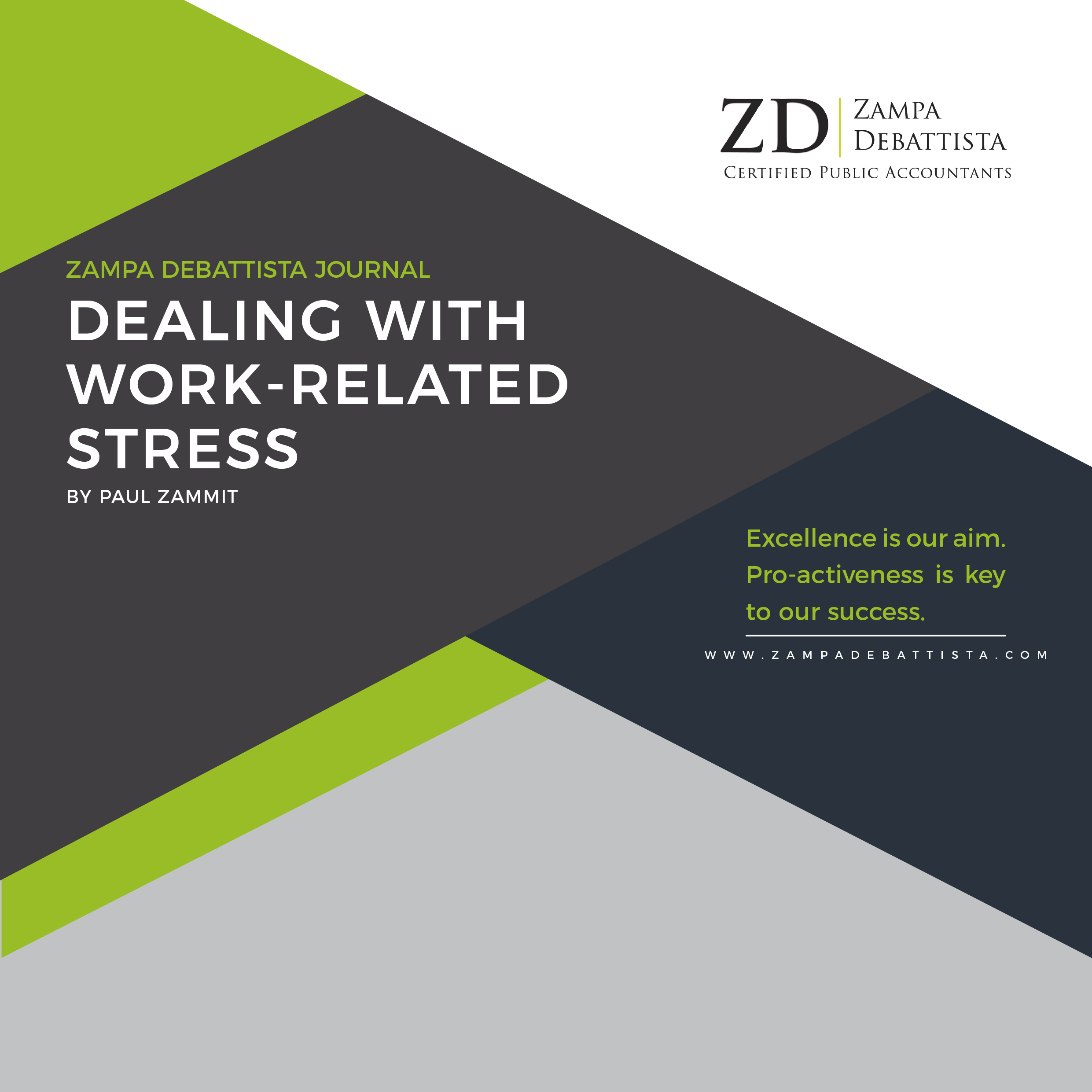 Dealing With Work-Related Stress by Paul Zammit