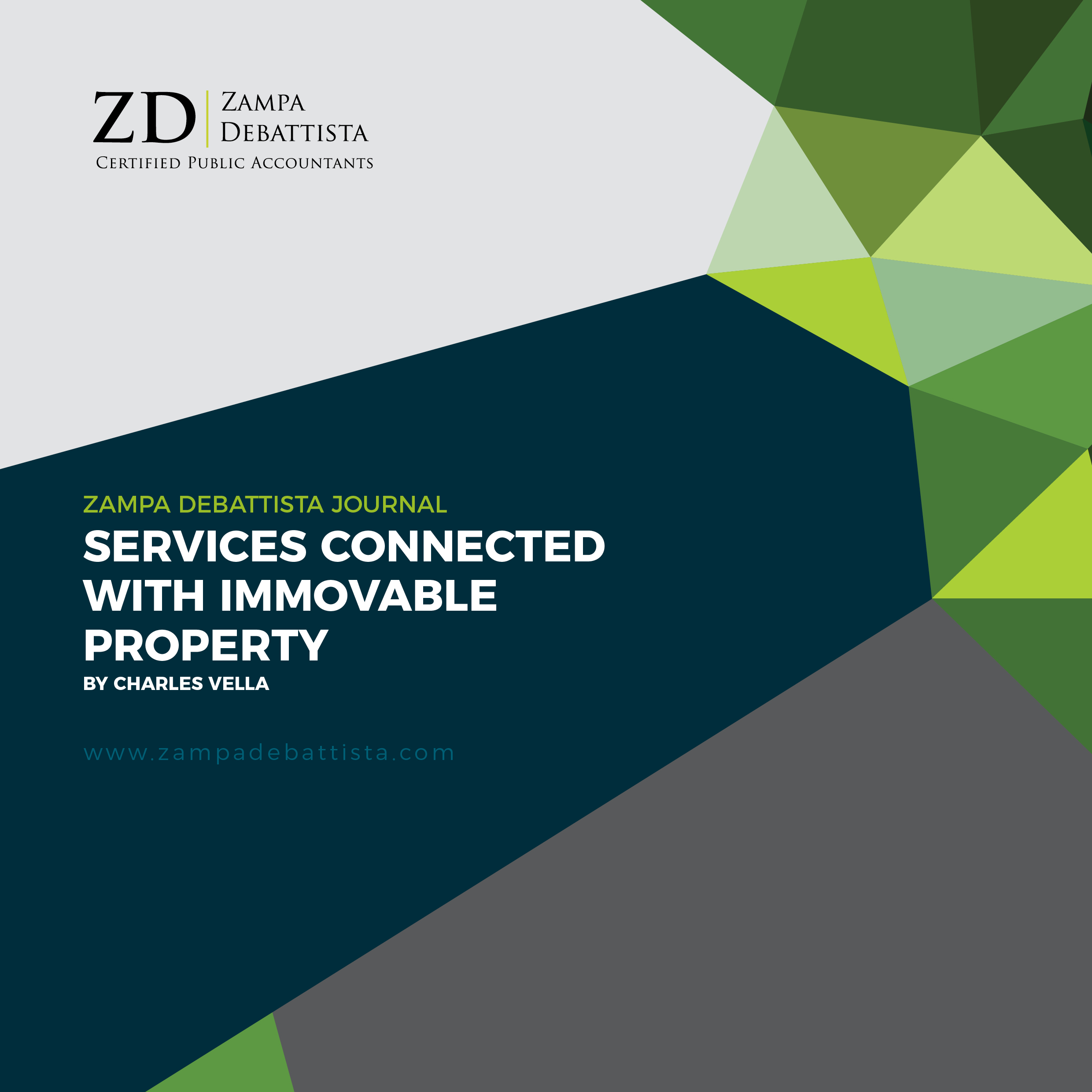 Services connected with Immovable Property by Charles Vella