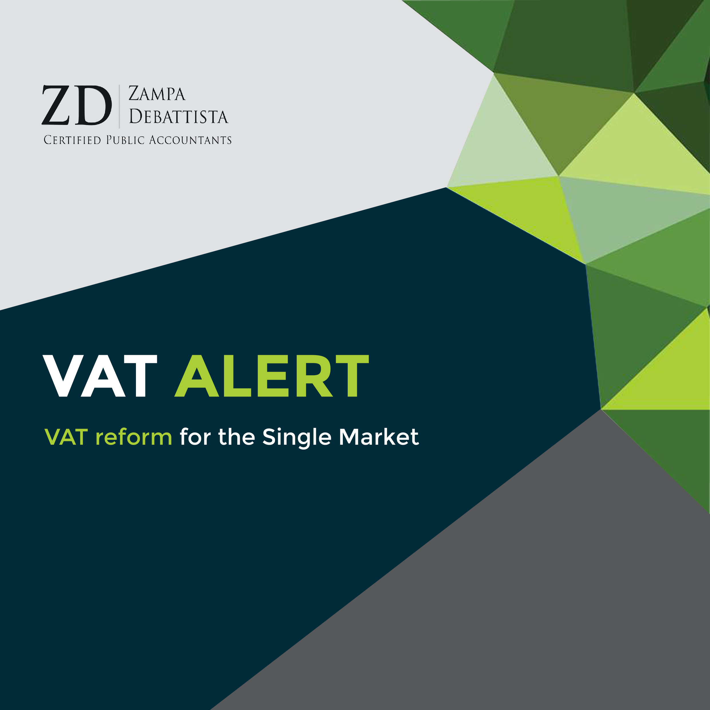 VAT ALERT – VAT reform for the Single Market