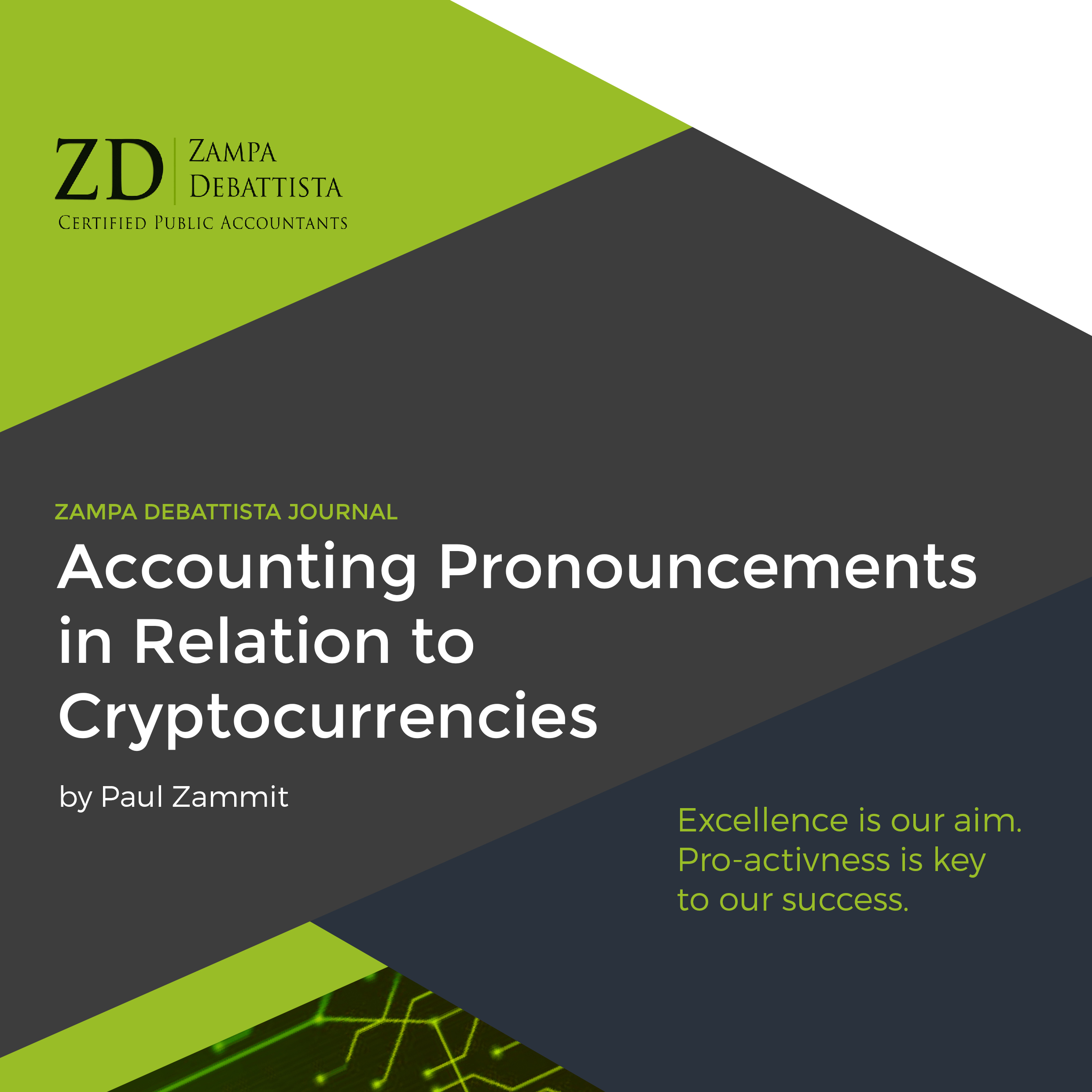 Accounting Pronouncements in Relation to Cryptocurrencies