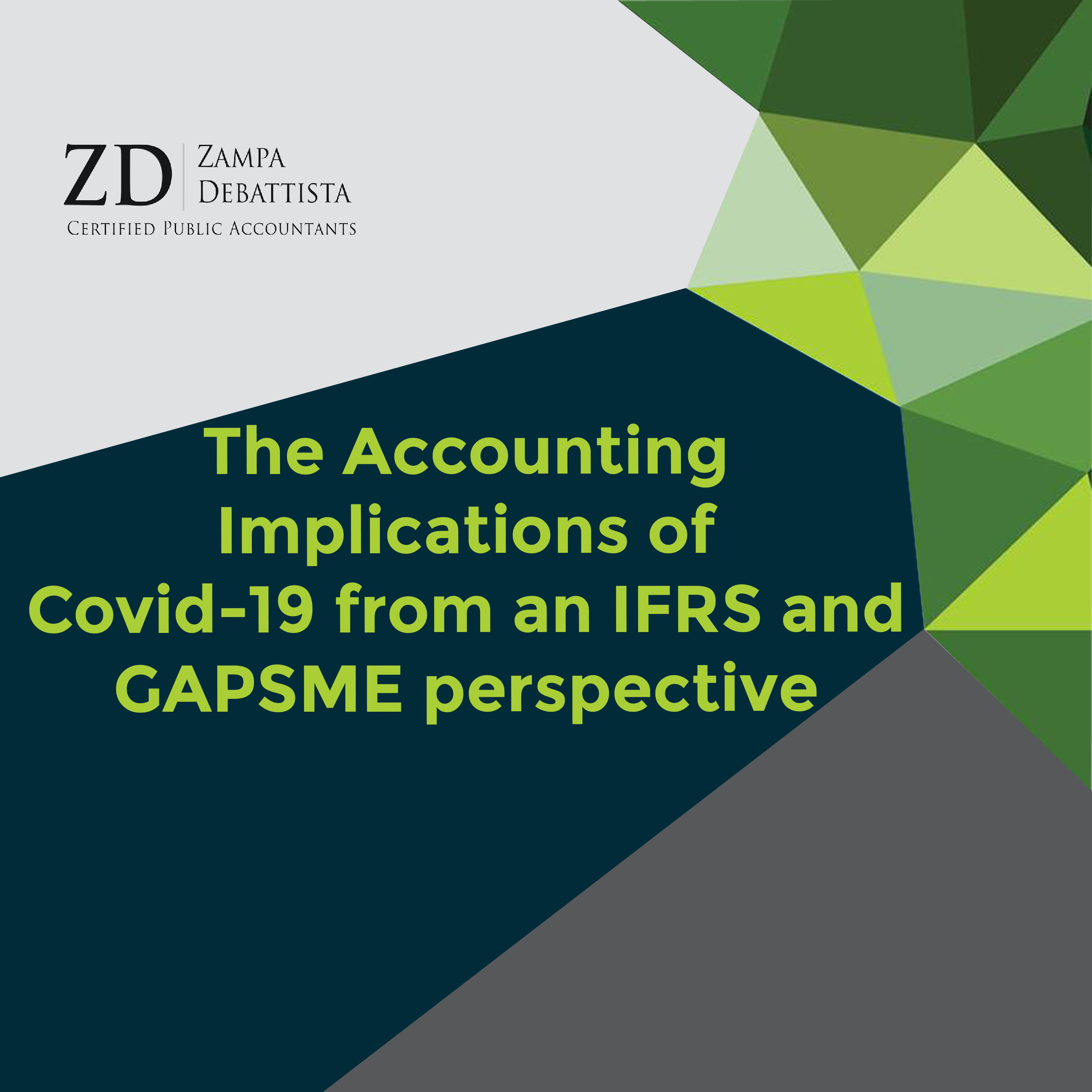The Accounting Implications of Covid-19 from an IFRS and GAPSME perspective