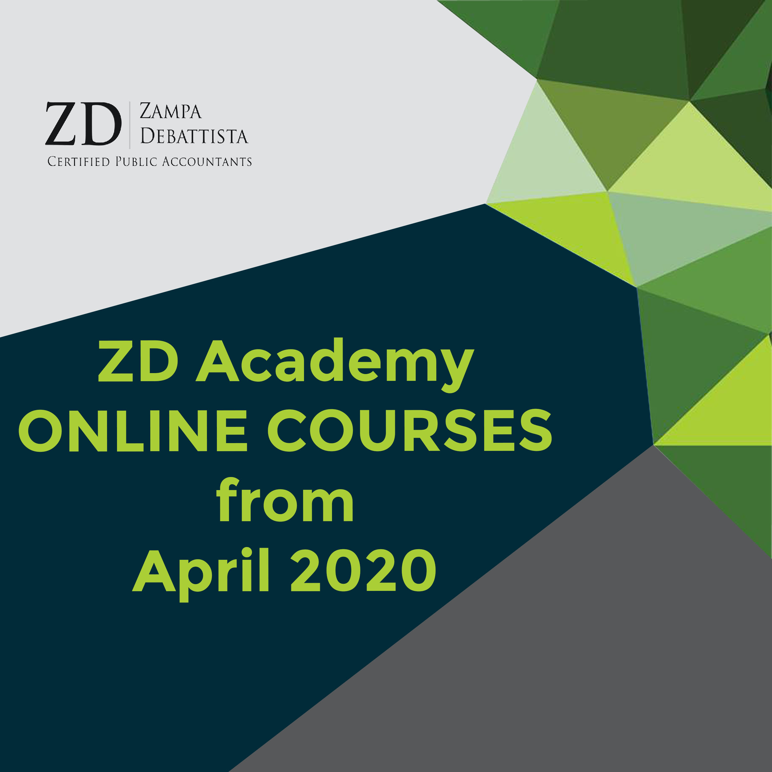 ZD Academy Online Courses from April 2020