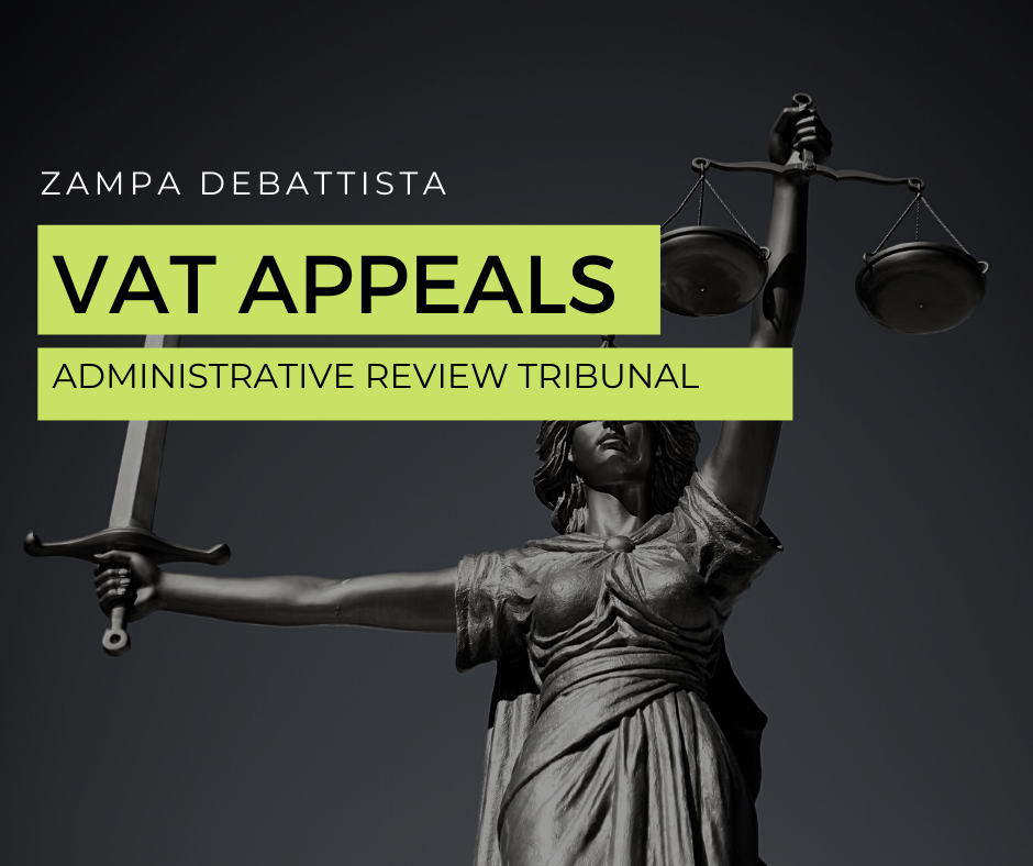 VAT APPEALS – Administrative Review Tribunal