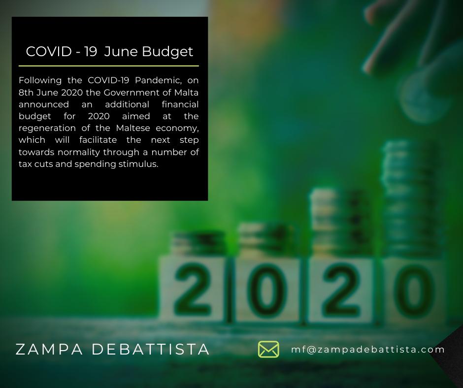 Covid-19 – June Budget 2020
