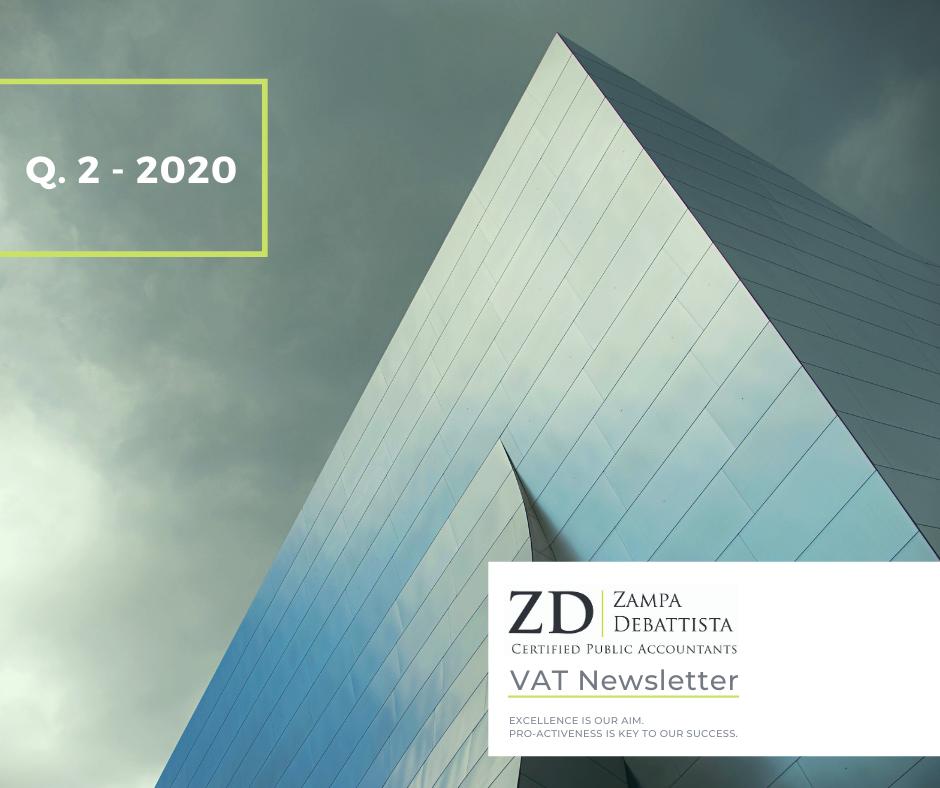 VAT Newsletter  Q.2 – 2020